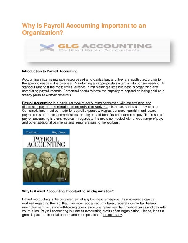 purpose of accounting for an organisation