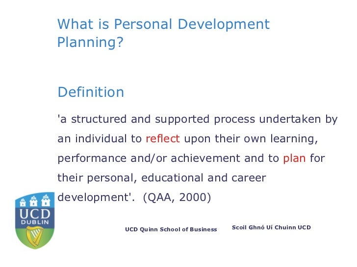 introduction to personal development Personal development includes activities that improve awareness and identity, develop talents and potential, build human capital and facilitate employability, enhance quality of life and contribute to the realization of dreams and aspirations.