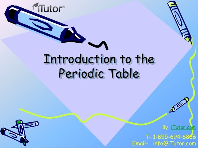 Introduction to periodic table introduction to periodic table introduction to theperiodic tablet 1 855 694 8886email infoitutor urtaz Gallery