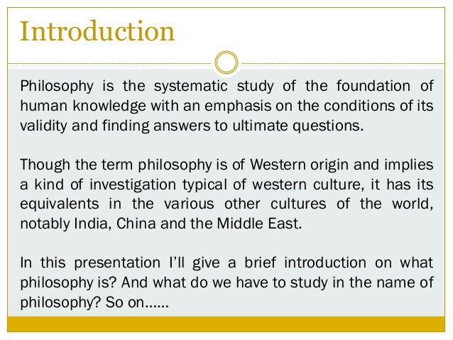 introduction to philosophy pdf