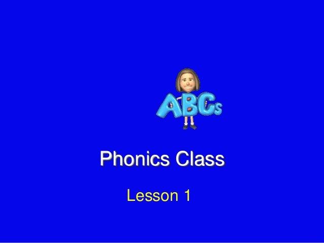 Phonics Class Lesson 1