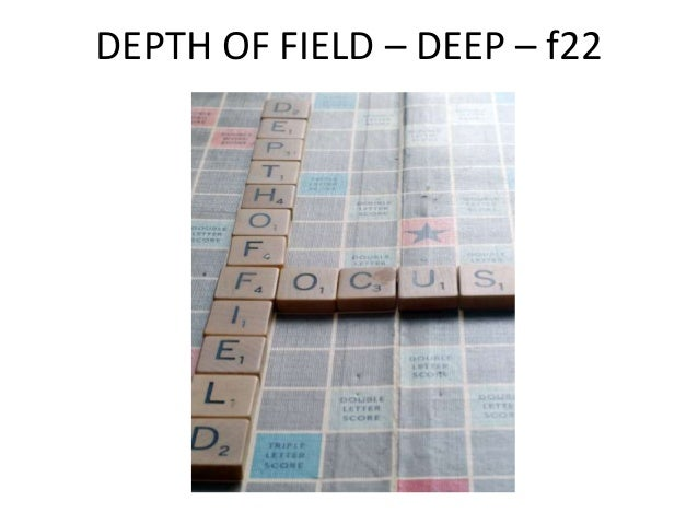 DEPTH OF FIELD – MEDIUM – f8