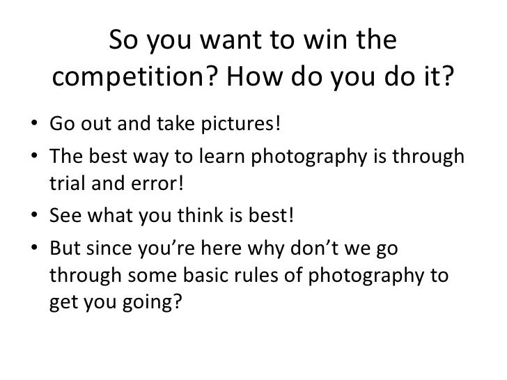 Introduction To Photography (Wset) Slide 2