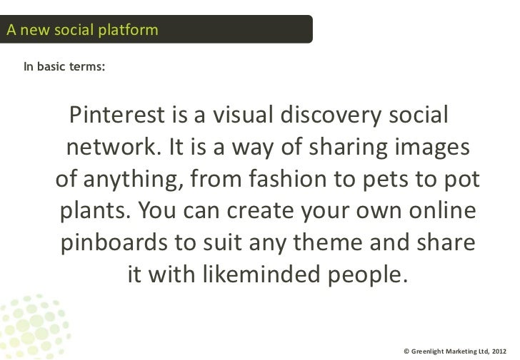 Introduction to Pinterest  Slide 3