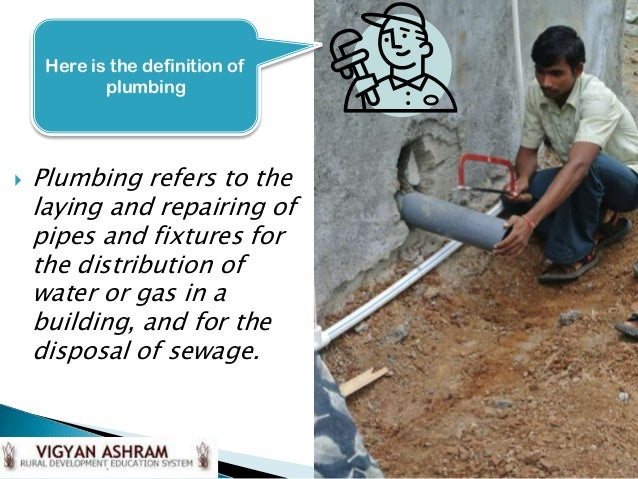 This Powerpoint Is Created And Developed By Here Is The Definition Of Plumbing Ef Bd