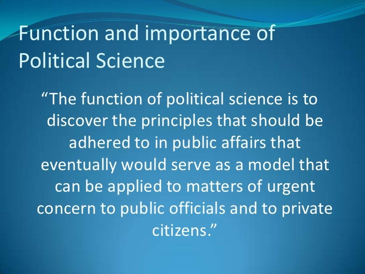 PhD in Political Science