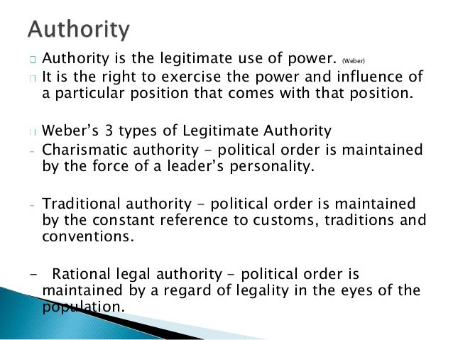 "charismatic authority The process whereby charismatic authority becomes transformed, or changed, to any of the other forms of authority (such as bureaucracy) is referred to by weber as the ""routinization of charisma"" typically, the charismatic leader can demand and receive complete devotion from his or her followers."