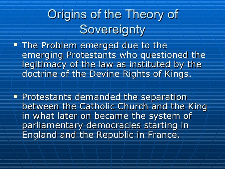 parliamentary sovereignty in theory and in A major issue that has been of much debate in the 20th century has been native sovereignty theory of sovereignty native sovereignty parliamentary.