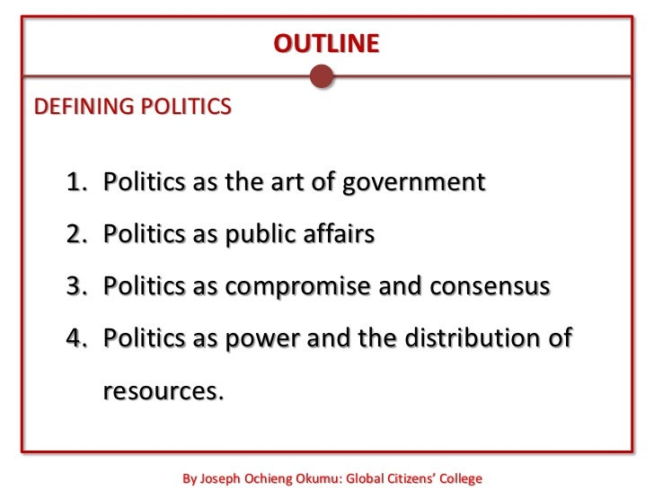 politics as compromise and consensus pdf