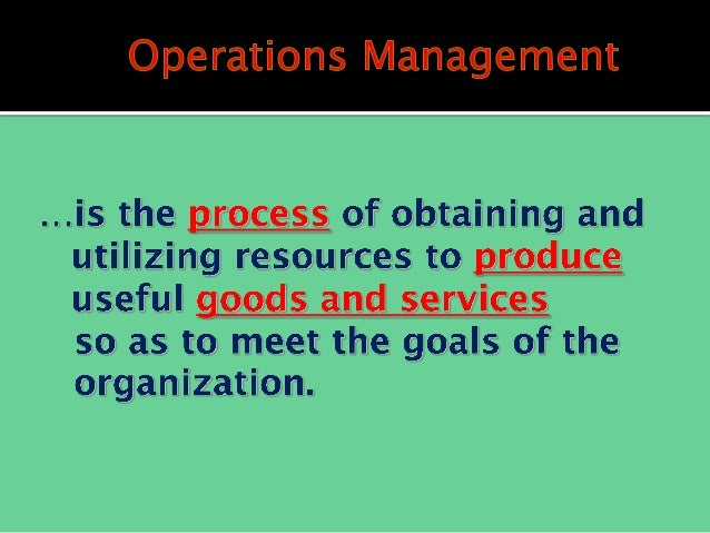 introduction to production and operations management Introduction to operations management 1 introductions 2 • production control 1 introduction course introduction trial by fire.