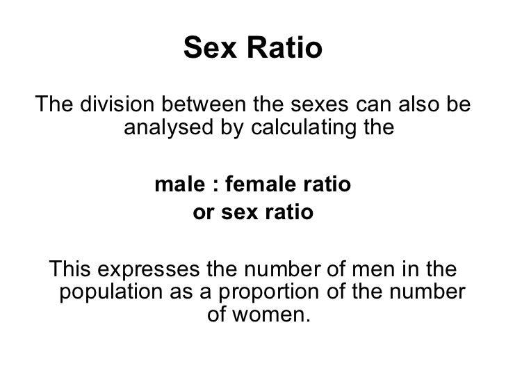 how to calculate sex ratio formula