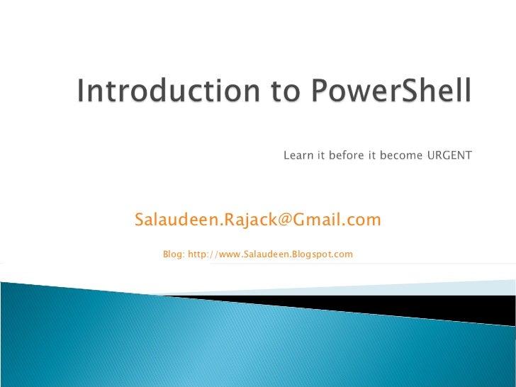 [email_address] Blog: http://www.Salaudeen.Blogspot.com