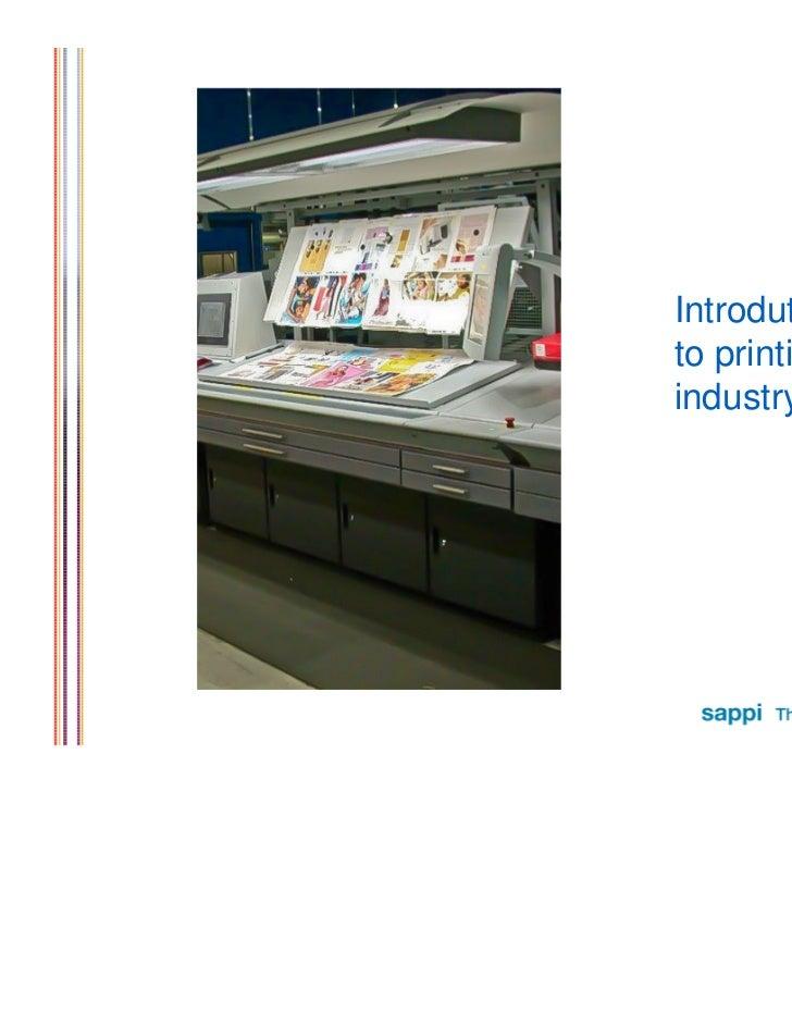 Introdutionto printingindustry
