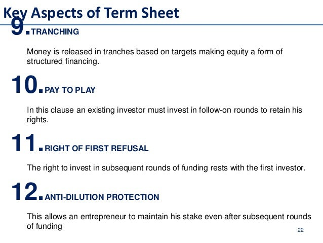 Introduction To Private Equity Venture Capitalist Fund - Fresh private equity term sheet example design