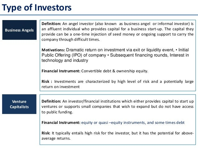 Introduction to private equity venture capitalist fund – Define Business Investment