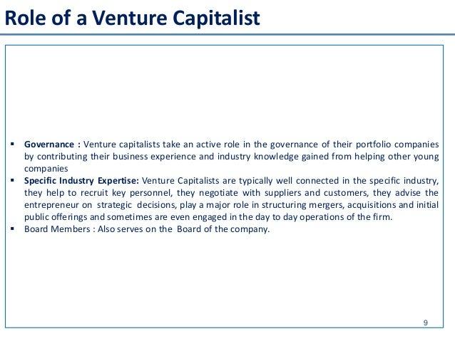 venture capitalist I venture capitalist hanno investito circa 29,1 miliardi di dollari nelle 3752 piccole/medie aziende offerte negli stati uniti durante il quarto trimestre del 2011,.