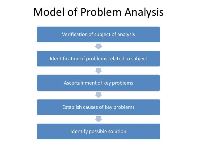 analysis of the problem of working The how-to guide for the evaluation of that need to occur to solve the core problem a problem tree analysis: could work through the cause and.