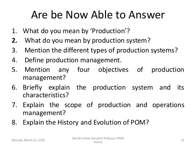 what do you mean by production