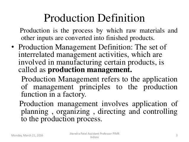 introduction to production and operations management Introduction learning outcomes  1 understanding operations management 2 operations, operations management and operations managers  222 mass production 22.