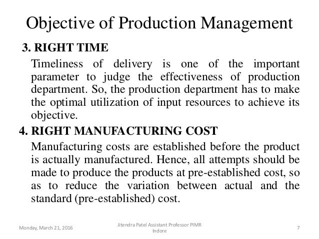 productions operations management
