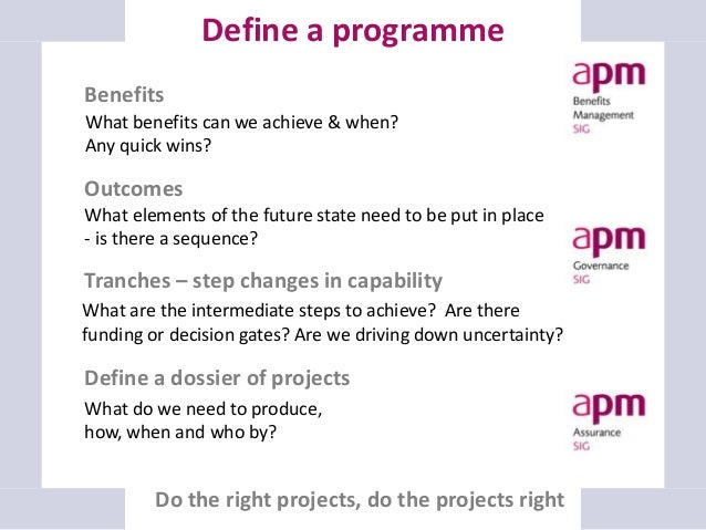 Change programme vs. steady-state activities