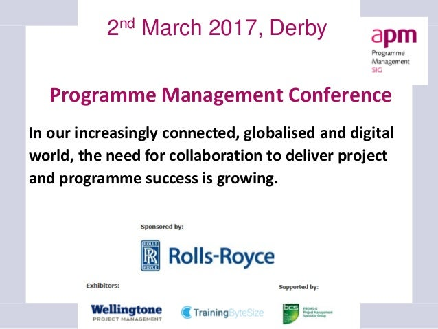 Introduction to Programme Management book launch 2nd edition, Birmingham, 2 February 2017