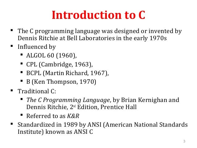 Introduction to programming with c Compiler for c language