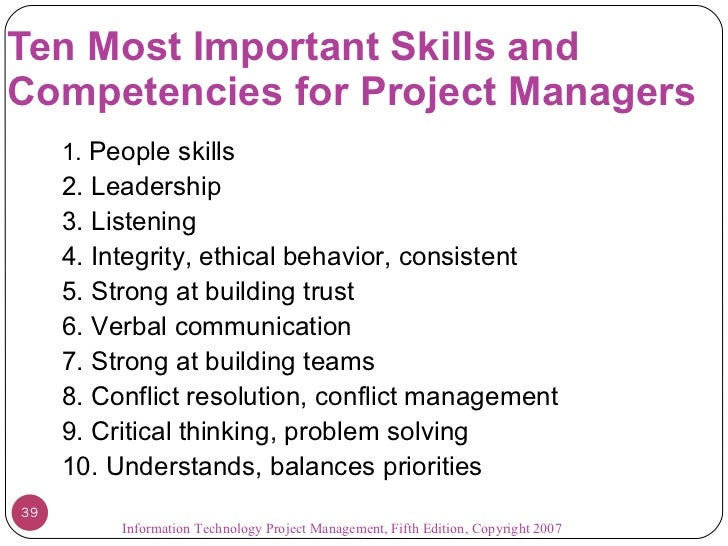 managerial skills list