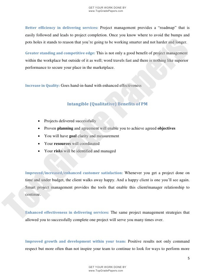 introduction to project management academic essay assignment topgradepapers com 5