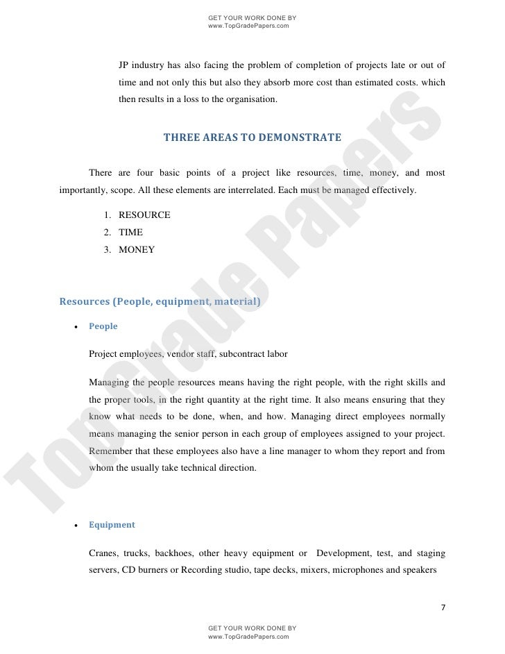project quality management essay 1 establish the undertaking aim and do a list of your premises about the undertaking.