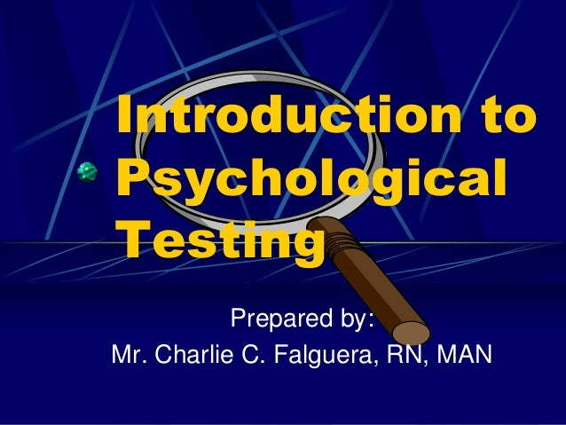 introduction to psychological testing Psychological testing in san diego - wwwneuropacificcom - when you visit the best neurologist in san diego, you should expect them to.