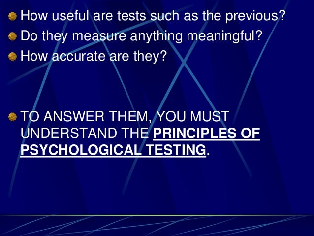psychological assessment measure introduction Psychologists use tests and other assessment tools to measure and observe a client's behavior to arrive at a understanding psychological testing and.