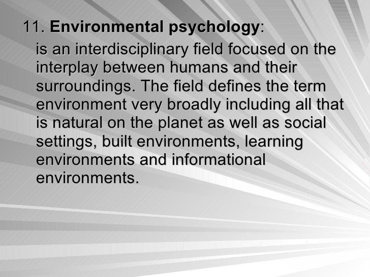 environmental psychology paper topics