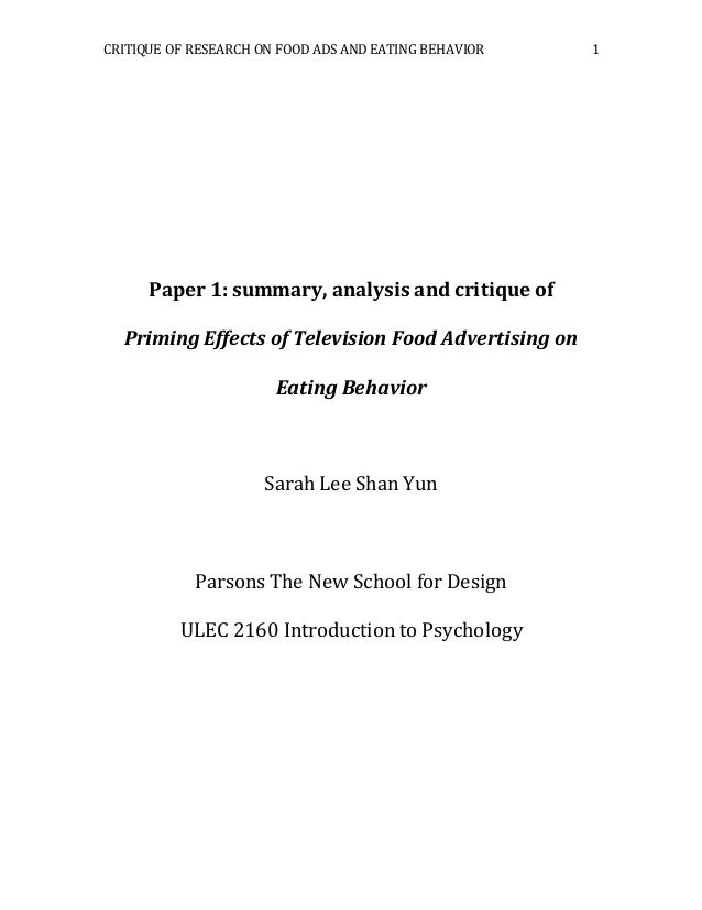 an introduction to the analysis of advertising This paper aims to assess which ad element-related eye movement behaviors  could predict the traditional advertising effectiveness of.