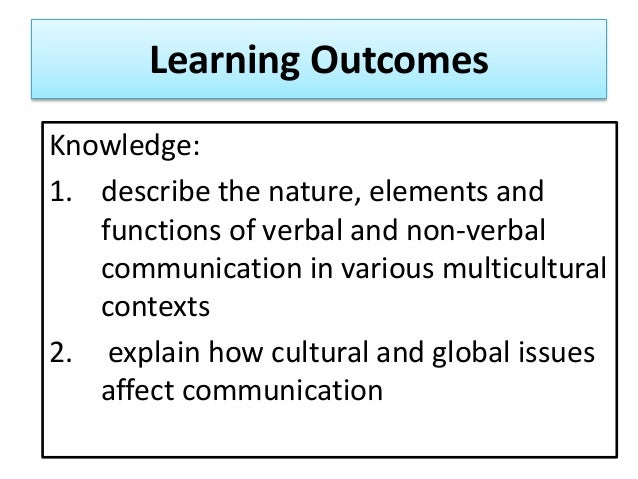 Functions of oral communication