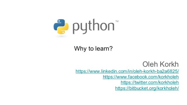 Python  Why to learn?