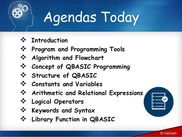 Introduction to QBASIC programming and basics