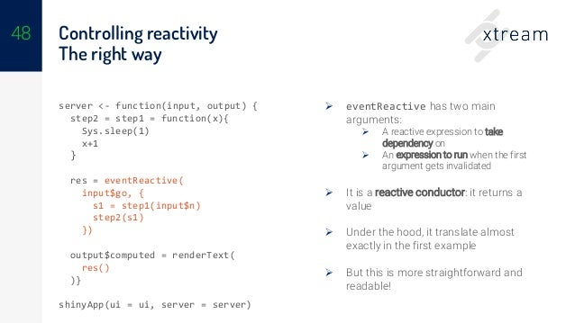 Introduction to reactive programming with R and Shiny