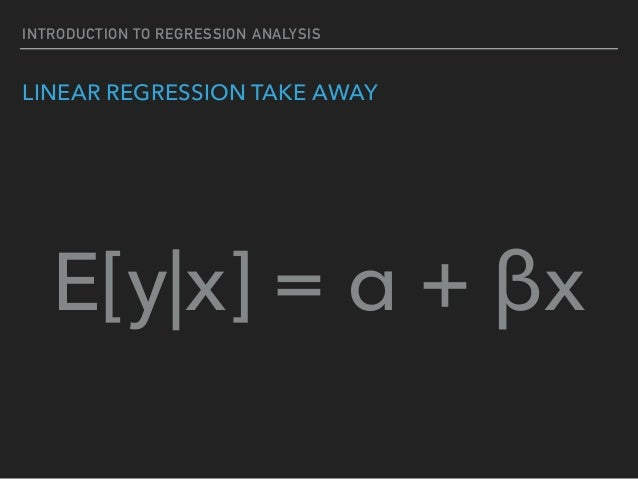introduction to help you linear regression analysis