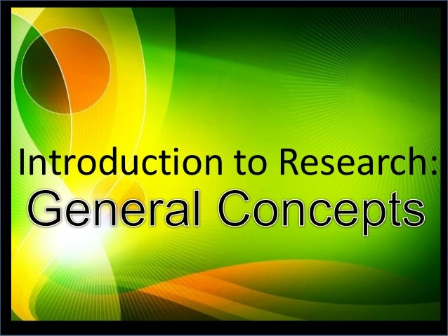 Introduction to Research: