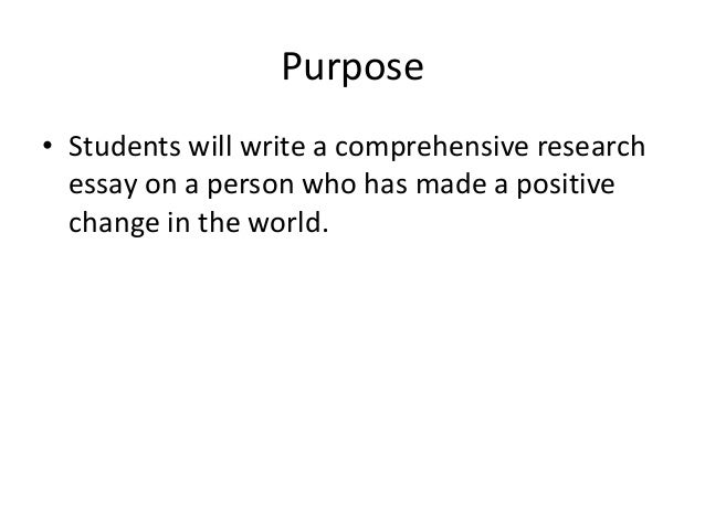 is the purpose of education to change the world sat essay Why the sat had to change  the playing field instead of making a college education less accessible to certain groups  to create and memorize an all-purpose essay that contained the.