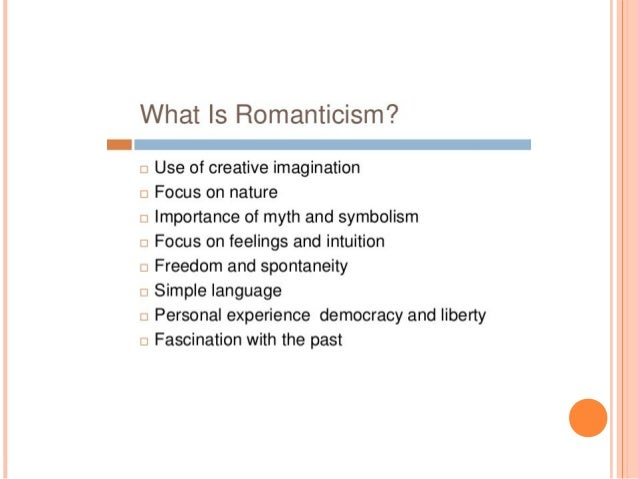 introduction romanticism English literature - the romantic period: as a term to cover the most distinctive  writers who flourished in the last years of the 18th century and the first decades of .