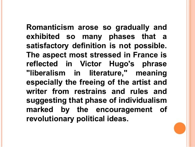 introduction romanticism Works by european american writers: year author title 1850 ralph waldo emerson : representative men.
