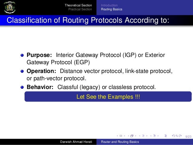 Introduction to router and routing basics for Exterior gateway protocol examples