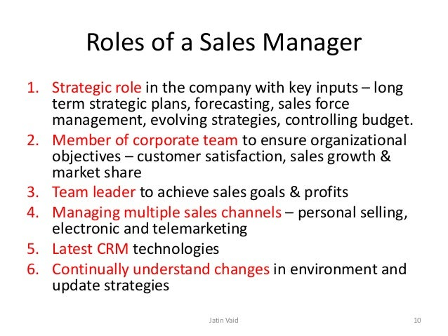 ROLE OF SALES MANAGER EBOOK