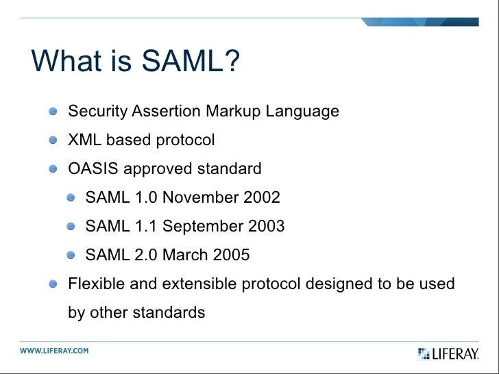 Introduction to SAML 2.0 Slide 3