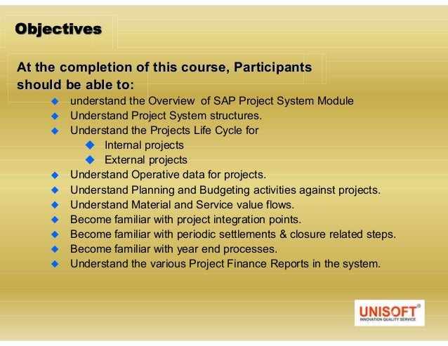 Introduction to sap project systems Slide 3