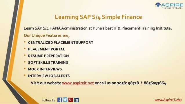 Introduction To Sap S4 Hana Simple Finance Learn Sap