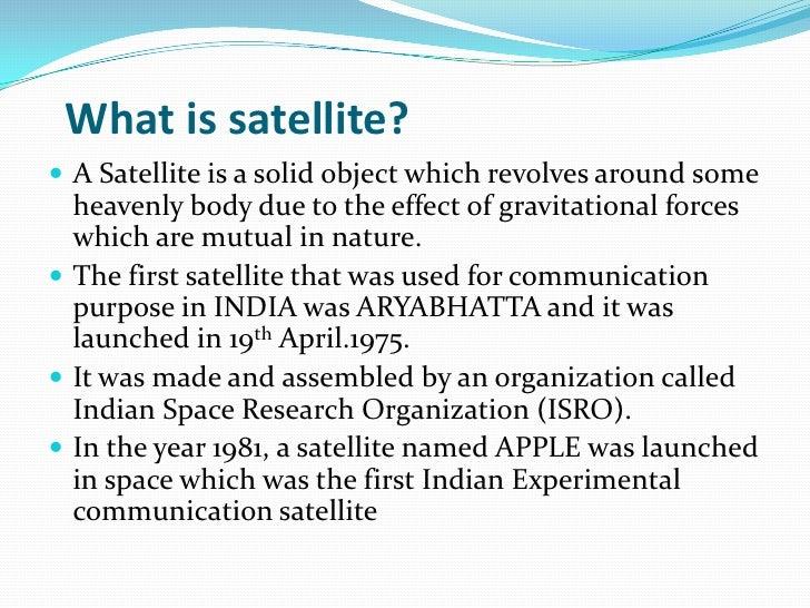 Aryabhatta Satellite