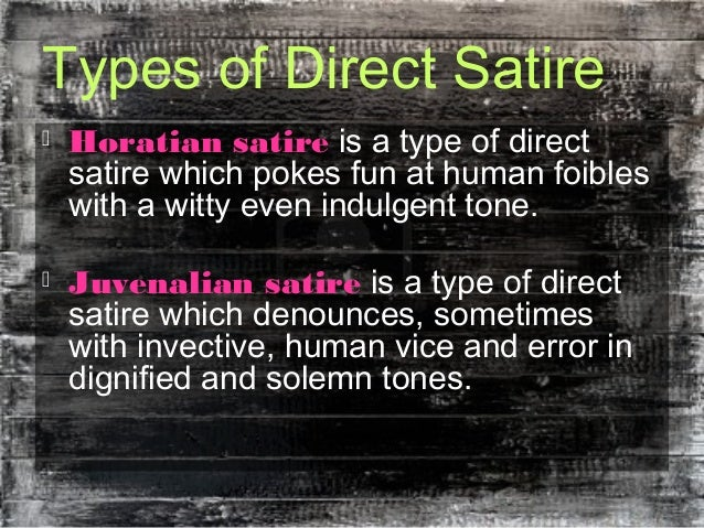 the 3 types of satire essay
